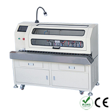 Automatic brush shield twist weave and heat shrinkable tube inserting machine