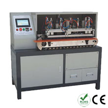 Wire stripping twisting and soldering machine
