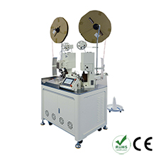 Automatic Double Heads Plastic Shell Terminal Crimping and Twisting Machine
